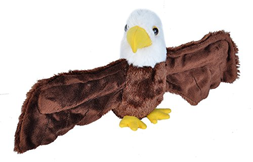 "Wild Republic Huggers Bald Eagle Plush Toy, Slap Bracelet, Stuffed Animal, Kids Toys, 8"""