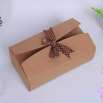 Christmas Gift Boxes Wholesale.Amazon Com Xlpd 7 10 350gsm Large Kraft Paper Gift Boxes