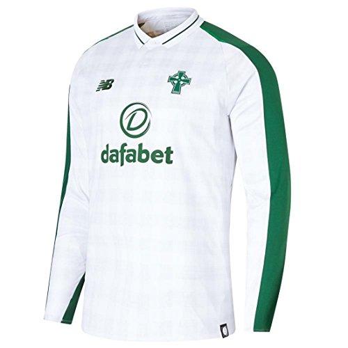 new arrival 7ea15 11cb1 New Balance Celtic FC Men's Away Long Sleeve Replica T-Shirt ...