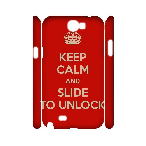 hot sale online 2bbdb ad583 Amazon.com: 3D Samsung Galaxy Note 2 Cases Keep Calm and Slide to ...