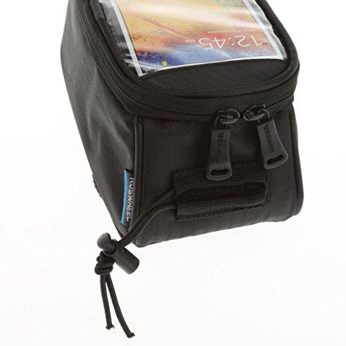 MagiDeal Schwarz Wasserdichte 5.5 ca Fahrrad Handy Tasche Mountainbike