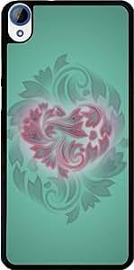Case for Htc Desire 820 - Flower Heart Tribal by ruishername