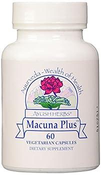 Ayush Herbs Inc Herbal Supplement, Macuna Plus, 60 Count