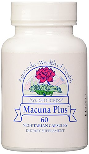 Ayush Herbs Inc Herbal Supplement, Macuna Plus, 60 Count
