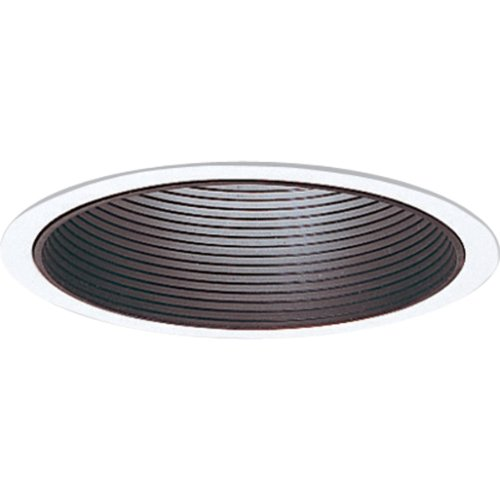 Progress Lighting P8066-31 Step Baffle For Insulated Ceilings 7-3/4-Inch Outside Diameter, (Metal Step Black Baffle)