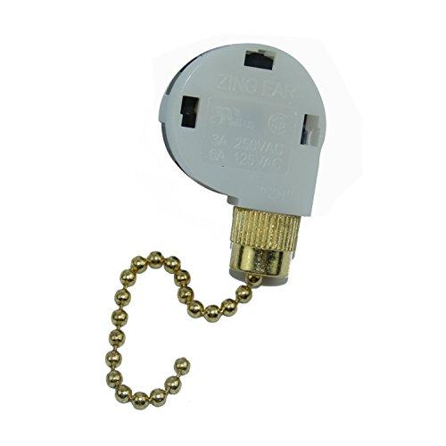 Zing Ear  Switch 3 Speed Ceiling Fan Light Lamp Pull Chain - Lovinstar ZE-268S2