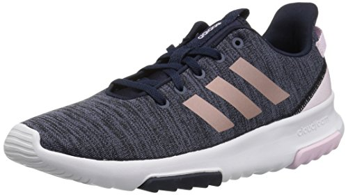 adidas Kids CF Racer TR Running Shoe, Legend Ink/Vapour Grey Metallic/Aero Pink, 3 M US Little Kid