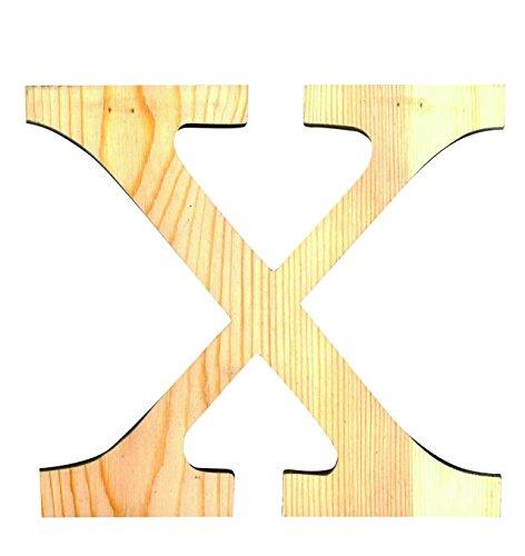 Artemio 14001104 Wooden Letter x Upper Case-11.5 cm