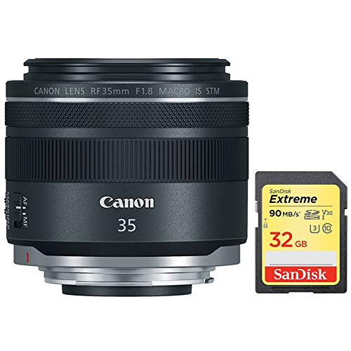 (Canon RF 35mm f/1.8 Macro is STM Lens Black (2973C002) with Sandisk 32GB Extreme SD Memory UHS-I Card)
