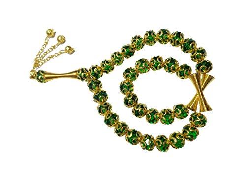 bonballoon Crystal Tasbeeh Sebha Tasbih Sibha Subha Rosary Masbaha Muslim Islamic Islam Worry Beads Prayer 33 Beads Salah Salat Namaz Allah Zikr Dhikr 321 (Best Zikr Of Allah)