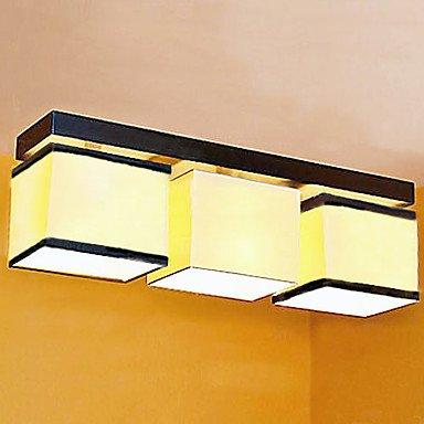 TY lámpara de techo, 3 luces, Metal minimalista tela para ...