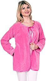 Chenille Bed Jacket Satin Tie Up Soft Luxury