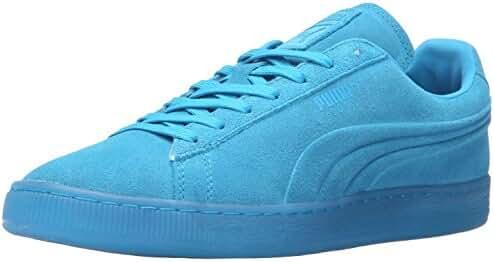 PUMA Men's Suede Emboss Iced Fluo Fashion Sneaker
