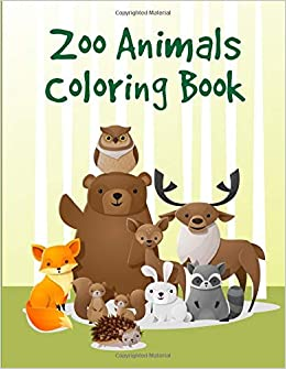 Zoo Animals Coloring Book Cute Christmas Coloring Pages