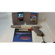 Authentic Vintage Nintendo Entertainment System NES Gray Zapper Gun + Extras