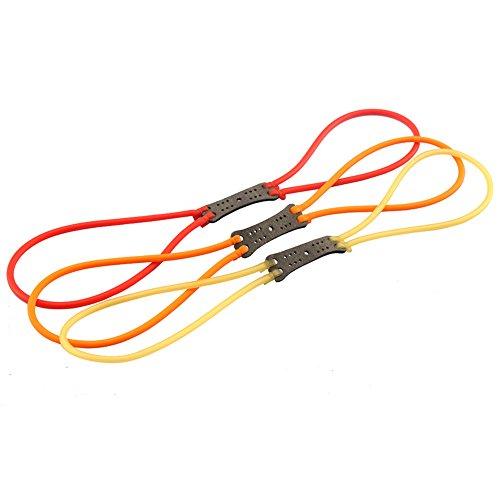 (Assolar 3Pcs Powerful Resilient Slingshot Bands Replacement Elastic Latex Catapult Tube - Color Random )
