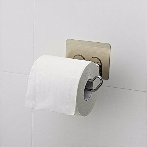 Interfold Bath Tissue - ZHAS The magic of non-marking hooks paper towel rack bathroom from Punched paper roll holder toilet suction interfold toilet Shelf Toilet Paper Holders