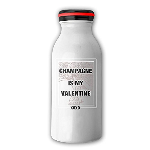 Champagne Is My Happy Valentine XOXO Stainless Steel Milk Cup Humorous