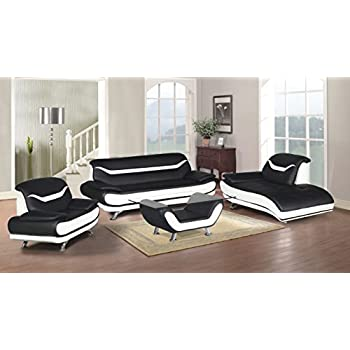 Amazon Com Us Pride Furniture 3 Piece Modern Bonded
