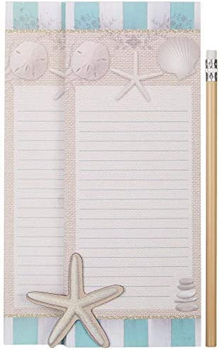 1 Magnet Tropical Fish and Seashell Design 1 Pencil 2 Magnetic Notepads