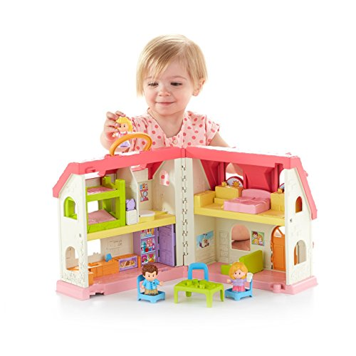 41NgzieCBoL - Fisher-Price Little People Surprise & Sounds Home Playset