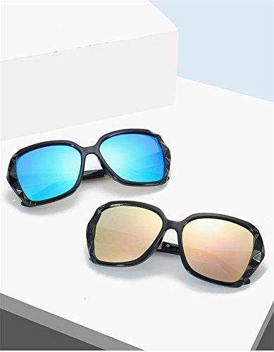 Lunettes UV Cadres soleil Gradient Proof soleil Lentille lunettes Cool Noir Voyage ovales de Rimmed de polarisées Des soleil de conduite femmes Casual de été de lunettes Bleu IpqrI
