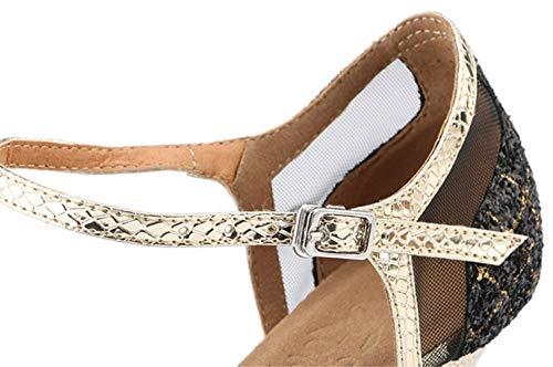Ballroom Shoes Women's Silver Performance Sequin Dance Mary Latin 1920s Honeystore Jane Glitter Prom Salsa x0zwdqnC7