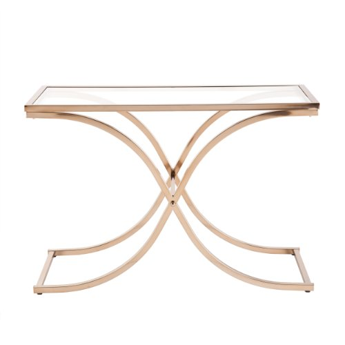Southern Enterprises Parnell Console/Sofa Table, Champagne Brass