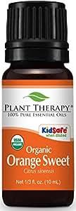 Plant Therapy Orange Sweet Organic Essential Oil 10 mL (1/3 oz) 100% Pure, Undiluted, Therapeutic Grade