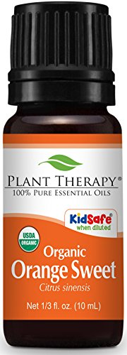 Price comparison product image Plant Therapy Orange Sweet Organic Essential Oil 10 mL (1 / 3 oz) 100% Pure,  Undiluted,  Therapeutic Grade