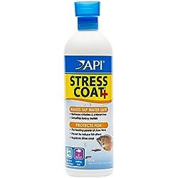 API STRESS COAT Aquarium Water Conditioner 16-Ounce Bottle