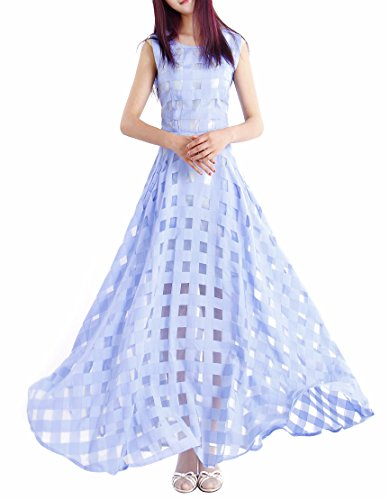 Dress Women's Blue Long Beach Dresses Party Afibi Casual Maxi Slim CvtqdtxS