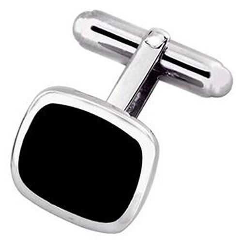 Box Set Shirt Black Tie Dress Studs Sterling Silver Onyx Cushion Shape Cufflinks