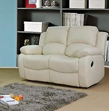 VALENCIA Crema Reclinable Piel sofá Suite 3 + 2 plazas ...