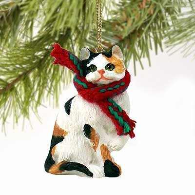 1 X Calico Cat Tiny One Christmas Ornament Calico (Calico Scarf)