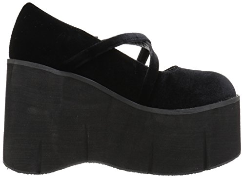 Platform Kera Women's Demonia Velvet 10 Black xfOavFqY