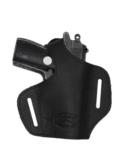 Pony Leather Belt - Barsony Black Leather Pancake Gun Holster for Colt 380 Mustang Pony Right