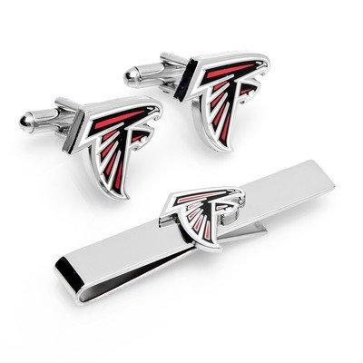 NFL Cufflinks & Tie Bar Gift Set NFL Team: Atlanta - Atlanta Cufflinks Falcons