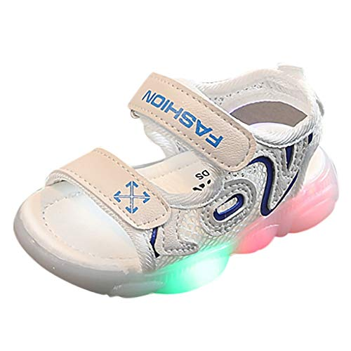 - Tantisy ♣↭♣ Girls LED Walk Shoes/Lightweight Breathable Sneakers/Casual Outdoor Shoes (Toddler/Little Kid/Big Kid) Blue