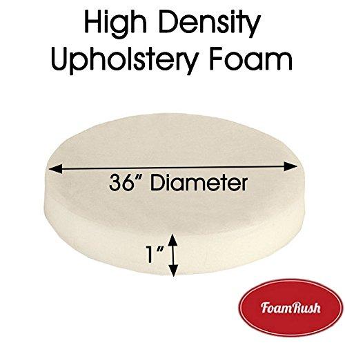 "FoamRush 1"" x 36"" x 36"" Diameter Premium Quality High Densit"