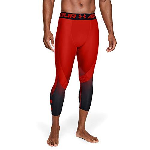 [해외]Under Armour Men`s / Under Armour Men`s Heatgear Armour 2.0 34 Legging novelty, Radio Red (890)Black, Large