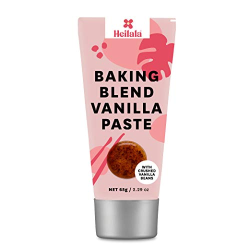 Baking Blend Vanilla Paste Tube - Heilala Vanilla Bean Paste with Natural Flavors For Baking, Contains Ground Vanilla Beans, Perfect for Cakes, Ice Cream, Pancakes, 2.29 oz
