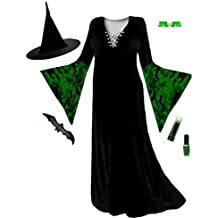 Black with Green Witch Plus Size Supersize Halloween Costume Basic Kit L to 9x