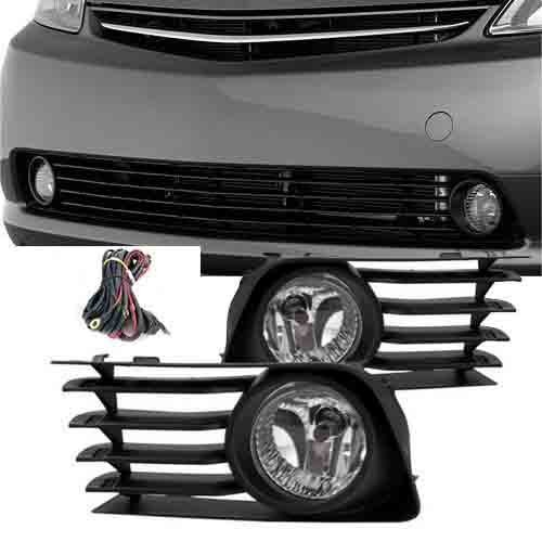 Remarkable Power FL7018 2004-09 Toyota Prius Fog Lights Clear Lens Front Bumper Lamps Kit (Lens Clear 55w)