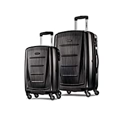 Transport your travel essentials effortlessly and stylishly. This extremely lightweight and durable spinner features 100 percentage polycarbonate construction with sharp molded details. Made to absorb impact by flexing while under stress then...