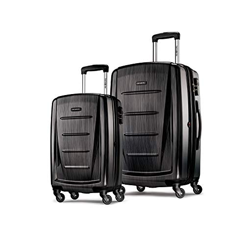 Samsonite Winfield 2 Expandable Hardside 2-Piece Luggage Set (20/28) with Spinner Wheels, Brushed Anthracite