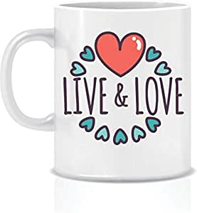 Live and Love White Ceramic Mug