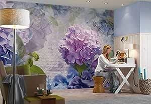 ورق حائط أزهار ثلاثي الابعاد (3D)