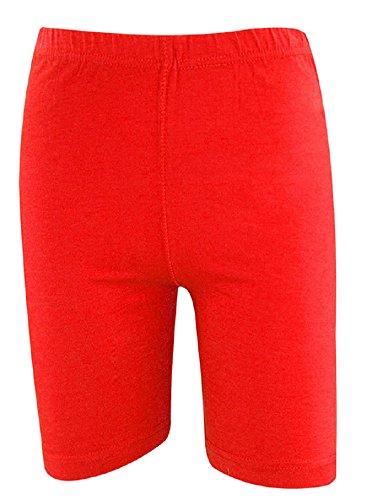 Casa de Moda Algodón Rodilla Longitud activa desgaste ciclismo gimnasio pantalones cortos–varios colores Rosso