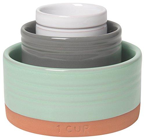 Now Designs Glazed Terracotta Nesting Prep Bowls, Set of Three ()